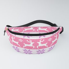 Watercolour Fair Isle in Pink & Purple Fanny Pack