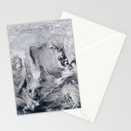 Sea Ice, Clouds in the Sea of Okhotsk Stationery Cards