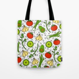 Guacamole Pattern Tote Bag