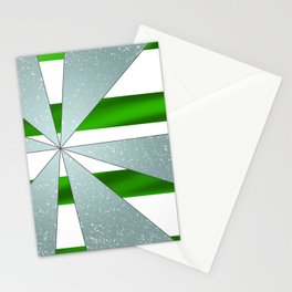 4Shades Glass: Green White Stationery Cards