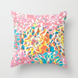 Floral Variation No1 Throw Pillow