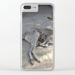 Kangaroo and Joeys Clear iPhone Case