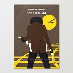 No726 My 310 to Yuma minimal movie poster Canvas Print