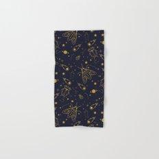 Golden Celestial Bugs Hand & Bath Towel