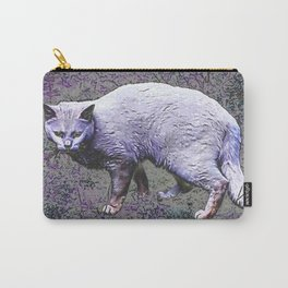 Cautious cat wary of stranger ... me! Carry-All Pouch