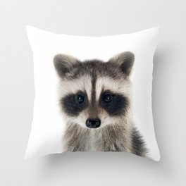 Baby Racoon Throw Pillow