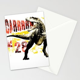 28th Birthday Gift 28 Year Old Dinosaurs Birthday Present Stationery Cards