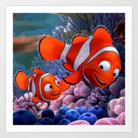 nemo Art Prints featuring Nemo by Max Jones