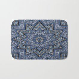 Jeans star kaleidoscope 3D Bath Mat