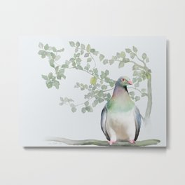 Wood Pigeon Metal Print