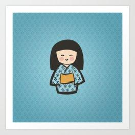 Geisha Dress Code (blue) Art Print
