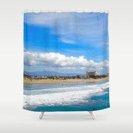 Huntington Beach Surfers Shower Curtain