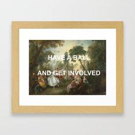 La Body Dancing Framed Art Print