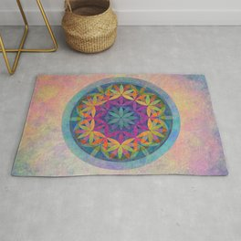 The Flower of Life variation Rug