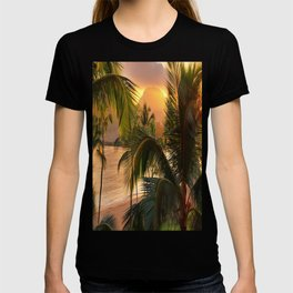 Kauai Tropical Island by OLena Art T-shirt