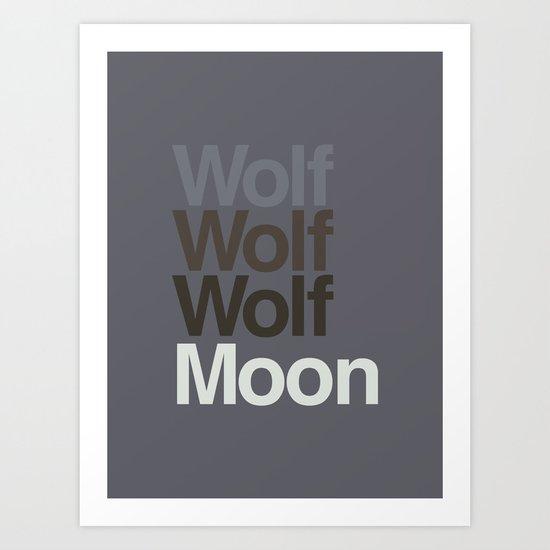 3 Wolvetica Art Print