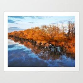 Reflections in the River Ouse Art Print