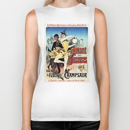 The ballerina lover 1888 by Chéret Biker Tank