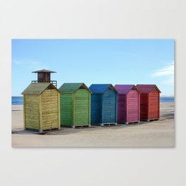 Colorful beach cabinets Canvas Print