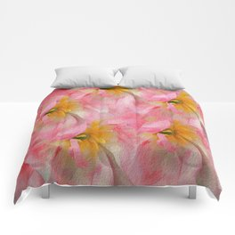 Fancy Painted Tulips Comforters