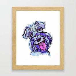 The Smiley Schnauzer Dog Love of my Life! Framed Art Print