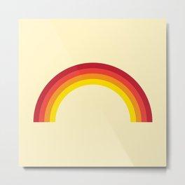 Vintage 70's Rainbow Metal Print