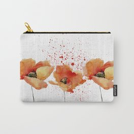 Three Poppies #society6 Carry-All Pouch