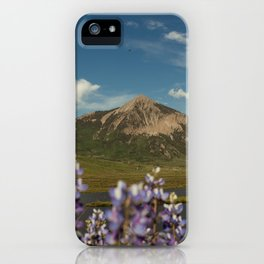 Mount Crested Butte through the Lupines  iPhone Case