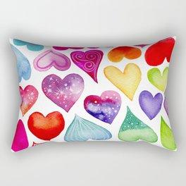 Field of Hearts Rectangular Pillow