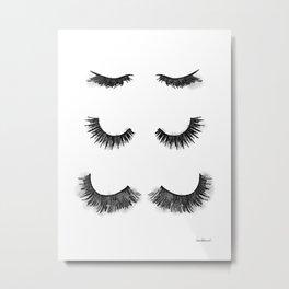Eyelashes, Lash, watercolor, make up Metal Print