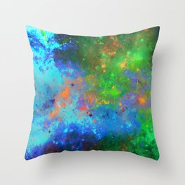 Speed Of Light - Abstract space painting Throw Pillow