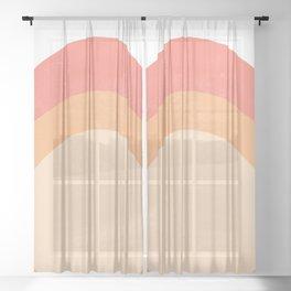 vintage sunset Sheer Curtain