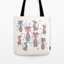 A Captivating Catalogue Of Classy Cats Tote Bag