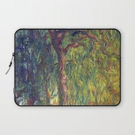 1918-Claude Monet-Weeping Willow-99 x 120 Laptop Sleeve