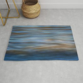 Ripples in water natural pattern Rug