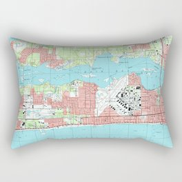 Biloxi Mississippi Map (1992) Rectangular Pillow