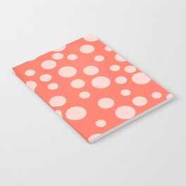 Living Coral Polka Dot Party Notebook