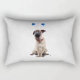 A Pug's Life (Wordless) Rectangular Pillow
