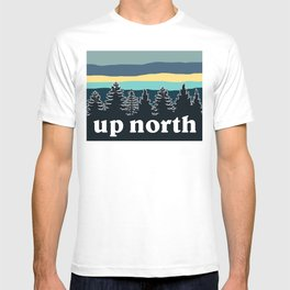 up north, teal & yellow T-shirt