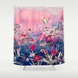 Scarlet Haze Shower Curtain