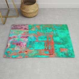 Abstract Ladder Rug