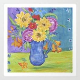 Summer Garden Flowers Art Print