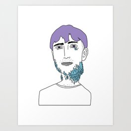 You Looked Better Online Art Print