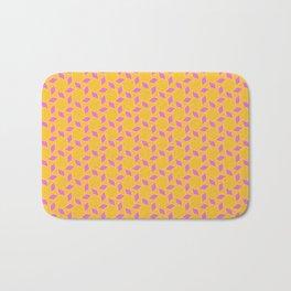 SUNBURST hot pink sun motif on sunshine yellow background Bath Mat