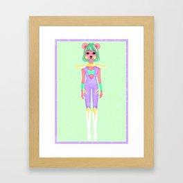 cosmic bear Framed Art Print