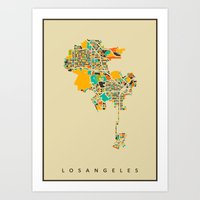 los angeles Art Prints featuring Los Angeles by Nicksman