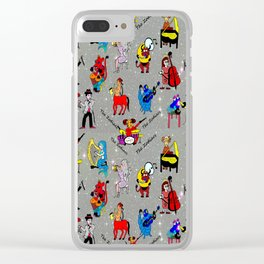 THE ZODIACS MUSIC ORCHESTRA Clear iPhone Case