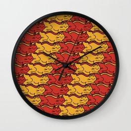 Tesselcats Wall Clock