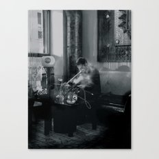 Pipe Smoker Canvas Print