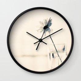 Easy Love (minimalist flower photography) Wall Clock